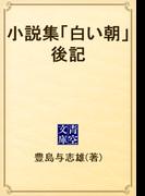 小説集「白い朝」後記(青空文庫)