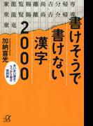書けそうで書けない漢字2000 あいまい書き・うっかり書き実例集(講談社+α文庫)