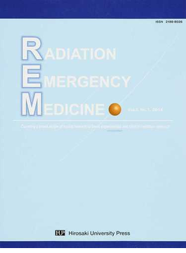RADIATION EMERGENCY MEDICINE Covering a broad scope of topics relevant to basic experimental and clinical radiation research Vol.3,No.1(2014)
