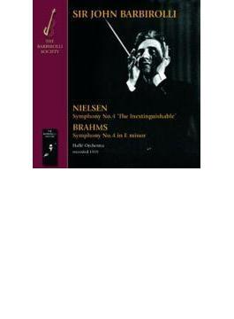 ニールセン:交響曲第4番『不滅』、ブラームス:交響曲第4番 バルビローリ&ハレ管弦楽団(1959)