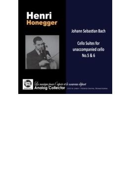 バッハ:無伴奏チェロ組曲第5番、第6番 アンリ・オネゲル(+バッハ:アリア、シューマン:トロイメライ、他 ナヴァラ)
