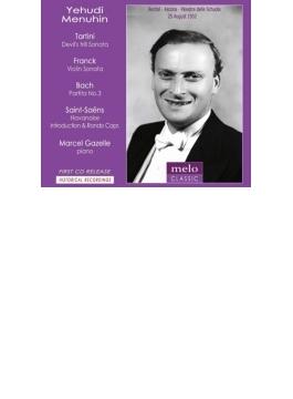 フランク:ヴァイオリン・ソナタ、バッハ:無伴奏パルティータ第3番、サン=サーンス:ハバネラ、タルティーニ:悪魔のトリル、他 メニューイン(1952)
