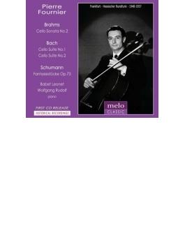 ブラームス:チェロ・ソナタ第2番、バッハ:無伴奏チェロ組曲第2番、第1番、シューマン:幻想小曲集 フルニエ(1948、57)