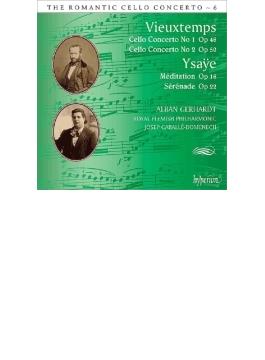ヴュータン:チェロ協奏曲第1番、第2番、イザイ:瞑想曲『詩曲』、セレナード アルバン・ゲルハルト、カバリエ=ドメネク&フランダース・フィル