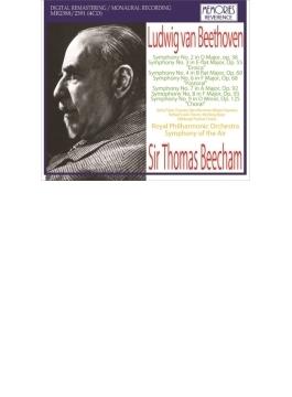 交響曲第2、3、4、6、7、8、9番 ビーチャム&ロイヤル・フィル、シンフォニー・オブ・ジ・エア(1951~59)(4CD)