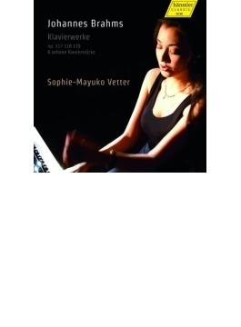 3つの間奏曲、6つの小品、4つの小品、『アルブムブラット』イ短調、他 ゾフィー=マユコ・フェッター