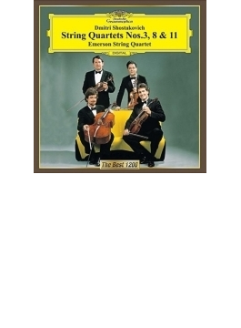 弦楽四重奏第3番、第8番、第11番 エマーソン弦楽四重奏団