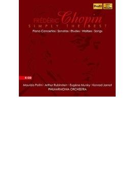 『ショパン/シンプリー・ザ・ベスト』 ポリーニ、ルービンシュタイン、ムルスキー、ジャーノット(6CD)