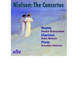 ヴァイオリン協奏曲、クラリネット協奏曲、フルート協奏曲 松山冴花、ジョン・マッコー、ジェニファー・スティントン