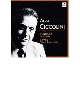 ラヴェル:ピアノ協奏曲、左手のためのピアノ協奏曲、ドビュッシー:幻想曲、他 チッコリーニ、マルティノン&パリ管