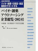 バイオ・創薬アウトソーシング企業総覧 バイオ・創薬・化粧品・食品開発をサポートする 2002−03
