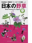 日本の野草 春 (増補改訂フィールドベスト図鑑)