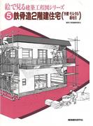 鉄骨造2階建住宅(外壁:モルタル刷毛引)(絵で見る建築工程図シリーズ)