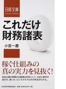 これだけ財務諸表 (日経文庫)(日経文庫)