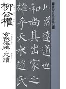 書聖名品選集(13)柳公権 : 玄秘塔碑・尺牘
