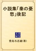 小説集「秦の憂愁」後記(青空文庫)