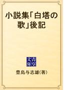 小説集「白塔の歌」後記(青空文庫)