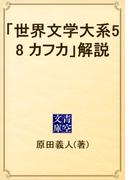 「世界文学大系58 カフカ」解説(青空文庫)