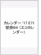 E71 エコカレンダー壁掛B4 (2017年版カレンダー)