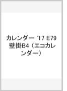 E79 エコカレンダー壁掛B4 (2017年版カレンダー)