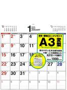 2017年 書き込み式シンプルカレンダー[A3変型]