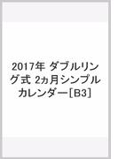2017年 ダブルリング式 2ヵ月シンプルカレンダー[B3]