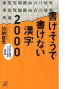 書けそうで書けない漢字2000 あいまい書き・うっかり書き実例集
