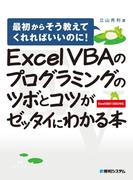 【期間限定価格】Excel VBAのプログラミングのツボとコツがゼッタイにわかる本