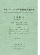 平成12−17−23年接続産業連関表 計数編1 第1部取引基本表投入表(基本分類(510部門×389部門))