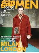 gap PRESS MEN vol.48(2017−2018Autumn & Winter) MILAN,LONDON MEN'S COLLECTIONS (gap PRESS COLLECTIONS)