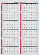 E1:エコカレンダー壁掛A2 2018年版1月始まり