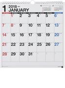 E11:エコカレンダー壁掛A3変型 2018年版1月始まり