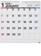 E52:エコカレンダー壁掛B3変型 2018年版1月始まり