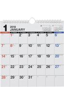 E66:エコカレンダー壁掛A4変型 2018年版1月始まり
