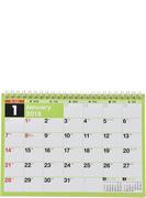 E102:エコカレンダー卓上A5 2018年版1月始まり