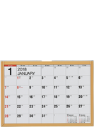 E151:エコカレンダー卓上B6 2018年版1月始まり
