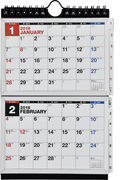 E131:エコカレンダー壁掛卓上A6×二面 2018年版1月始まり