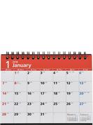 E132:エコカレンダー卓上A6 2018年版1月始まり