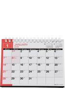 E136:エコカレンダー卓上A6 2018年版1月始まり
