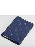 ジャガード織ブックカバー フクロウ&アテナ ネイビー (丸善150周年記念商品)