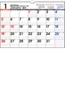 エコカレンダー壁掛 カレンダー 2020年 令和2年 A4  E62 2020年1月始まり