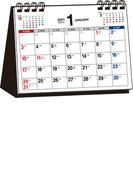 2021年 シンプル卓上カレンダー A6ヨコ【T3】