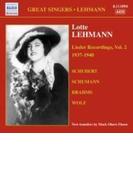 ロッテ・レーマン、歌曲録音集第2集 1937-1940 レーマン(S)、他【CD】