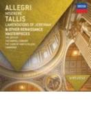 ルネッサンス名作集~アレグリ:ミゼレーレ、タリス:エレミアの哀歌、他 ザ・シックスティーン、ガブリエリ・コンソート、キングズ・カレッジ聖歌隊【CD】