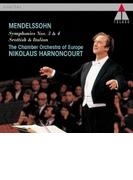 交響曲第3番『スコットランド』、第4番『イタリア』 ニコラウス・アーノンクール&ヨーロッパ室内管弦楽団【CD】
