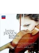 ベートーヴェン:ヴァイオリン協奏曲、ブリテン:ヴァイオリン協奏曲 ジャニーヌ・ヤンセン、パーヴォ・ヤルヴィ&ドイツ・カンマーフィル、ロンドン交響楽団