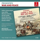 『戦争と平和』全曲 ムスティスラフ・ロストロポーヴィチ&フランス国立管弦楽団、ヴィシネフスカヤ、オフマン、他(1987 ステレオ)(4CD)【CD】 4枚組