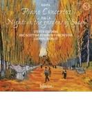 ラヴェル:ピアノ協奏曲、左手のためのピアノ協奏曲、ファリャ:スペインの庭の夜 スティーヴン・オズボーン、リュドヴィク・モルロー&BBCスコティッシュ交響楽団【CD】