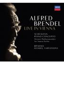 シューマン:ピアノ協奏曲、ブラームス:ヘンデルの主題による変奏曲とフーガ アルフレート・ブレンデル、サイモン・ラトル&ウィーン・フィル(2001、1979)【SHM-CD】