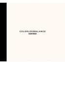 COLORLESSBALANCE 【限定盤】(+DVD)【CD】 2枚組